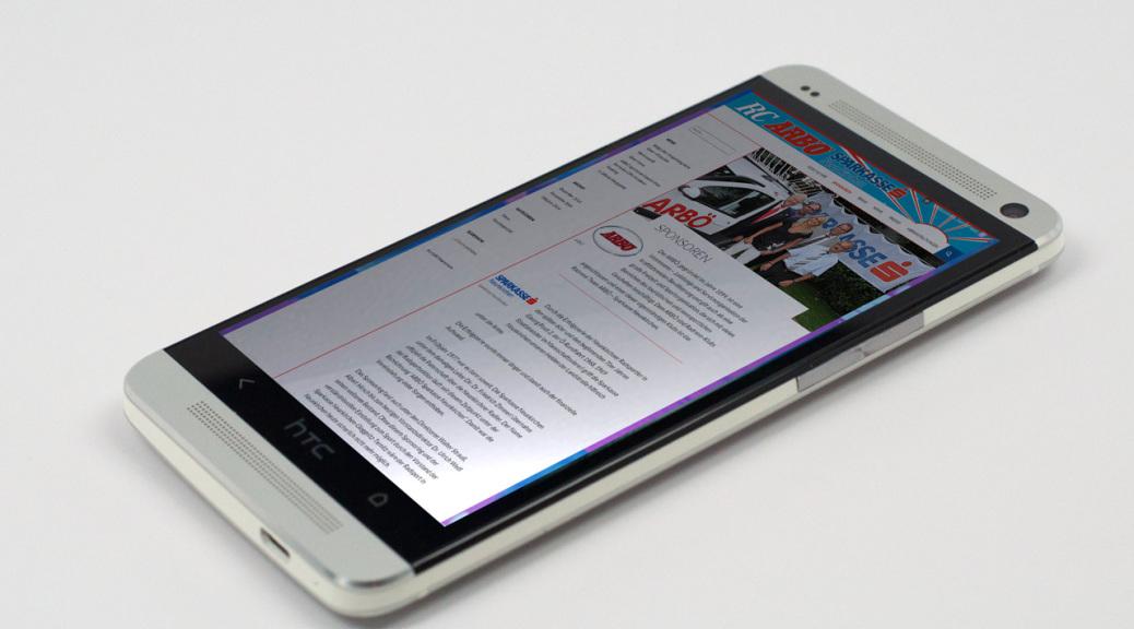Neue Webseite auf Mobiltelefon