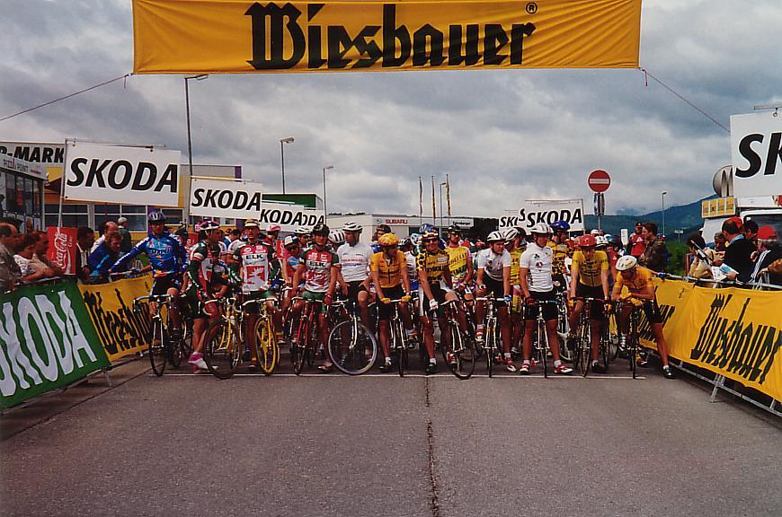 Foto vom Startbereich mit Startaufstellung