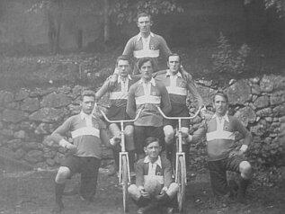 Gruppenportrait Radballmannschaft 1928